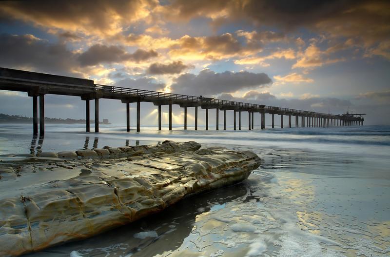 The Light Behind the Pier - Scripps Pier, La Jolla, California